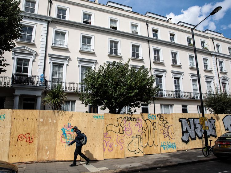 Homes are protected from carnival visitors in west London