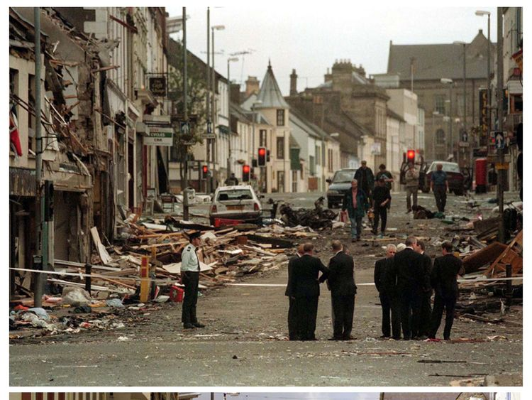 The street in Omagh before it was devastated by a bomb