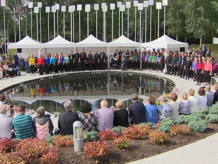 A memorial service was held for the 29 victims of the bombing