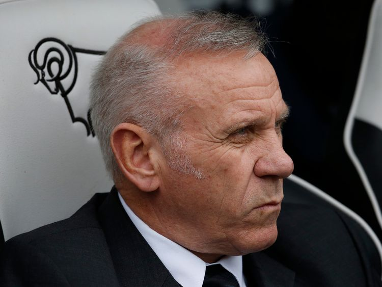 DERBY, ENGLAND — APRIL 09: Peter Reid, part of the Bolton coaching staff during the Sky Bet Championship match between Derby County and Bolton Wanderers at the iPro Stadium on April 09, 2016 in Derby, United Kingdom. (Photo by Alan Crowhurst/Getty Images)