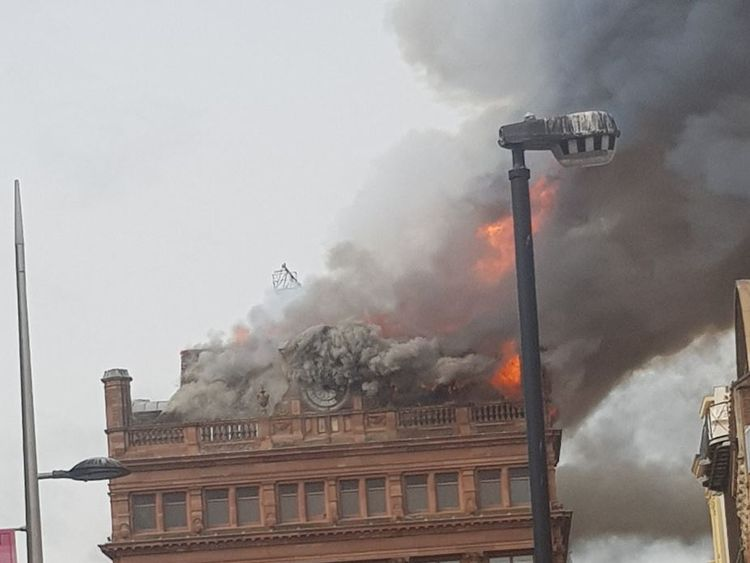 Primark evacuated after fire at Belfast store