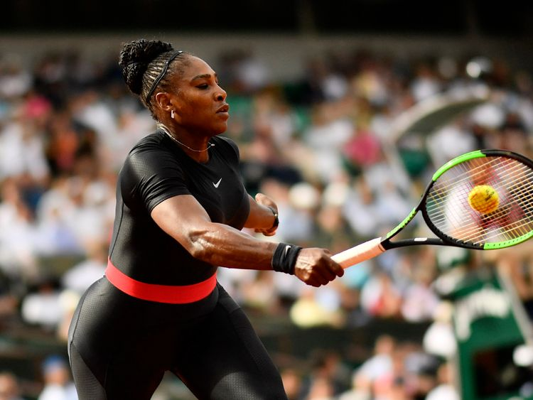 Serena admits she felt like a warrior in her tight black catsuit