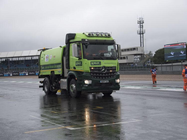 Day of racing Silverstone Circuit in Northampton was called off