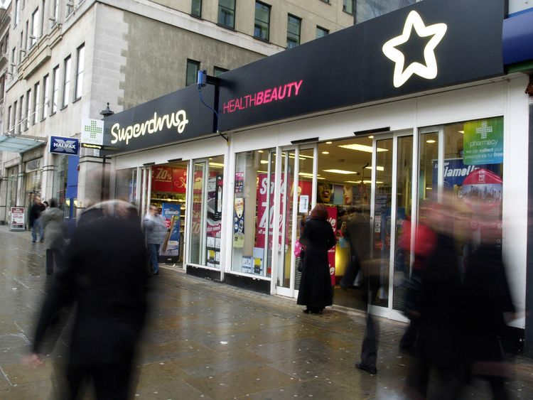 Superdrug will trial the procedures in its Strand store in London before rolling it out nationwide. File pic