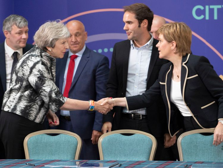 The pair spoke after formally signing the £1.3bn city deal for Edinburgh and the south east of Scotland