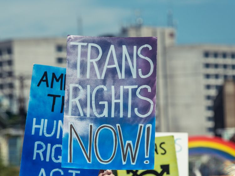 Trans Rights - Stock image