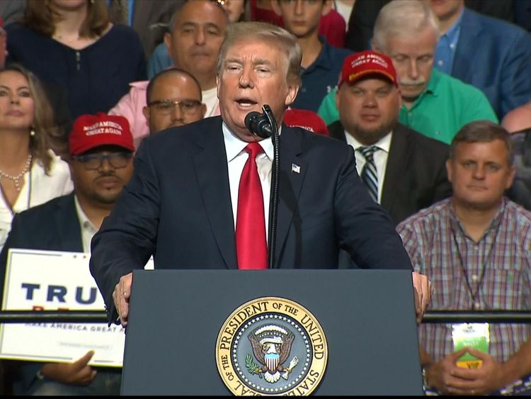 The president has said farmers 'can take it'