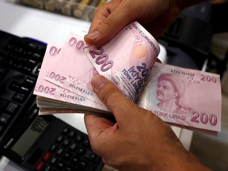 Turkish lira hits new low on worries over economy, U.S.  row