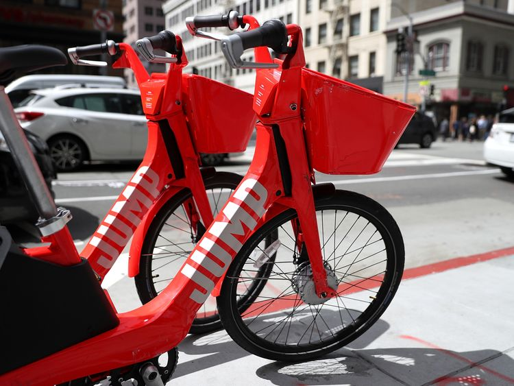 Jump bikes are currently available in eight US cities