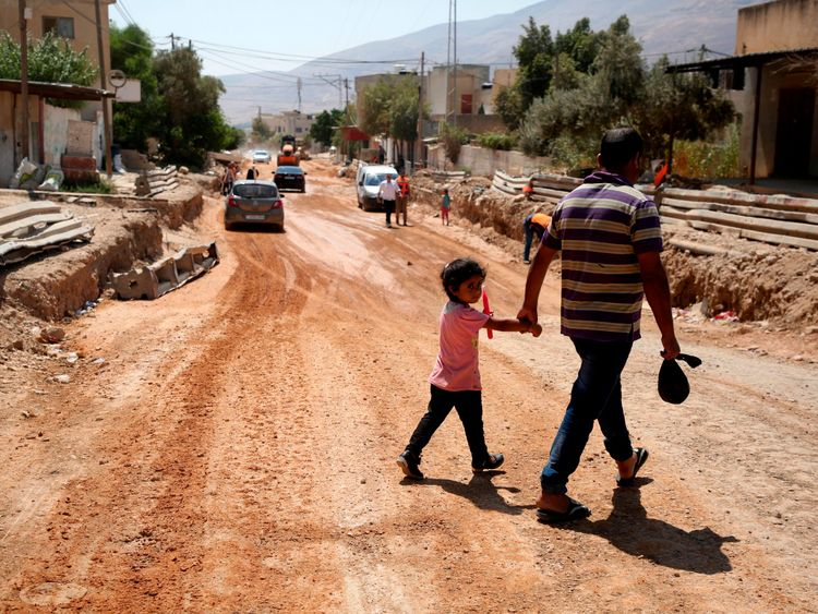 Renovations carried out after a USAID grant in the village of al Badhan, north of Nablus