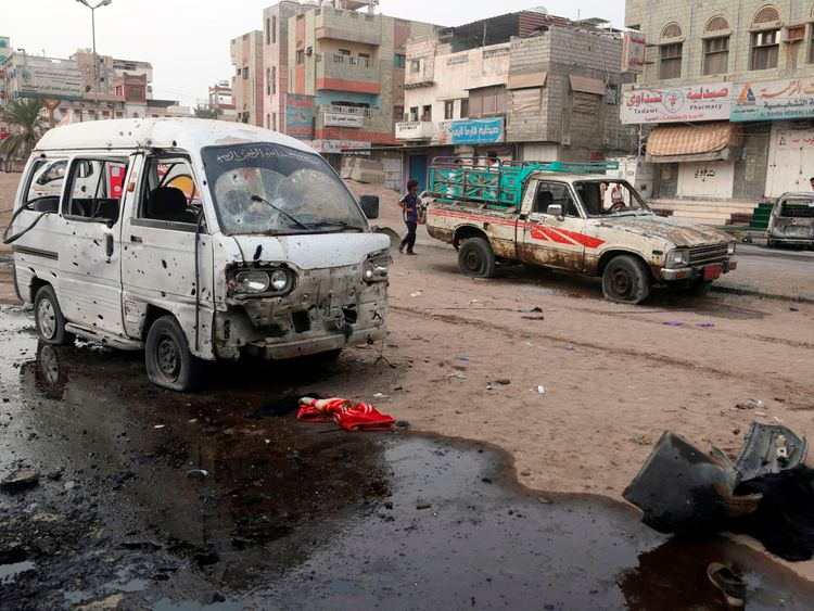 Dozens dead in Yemen after school bus carrying children hit by airstrike