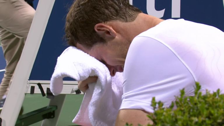 Murray breaks down in tears after reaching Washington quarters