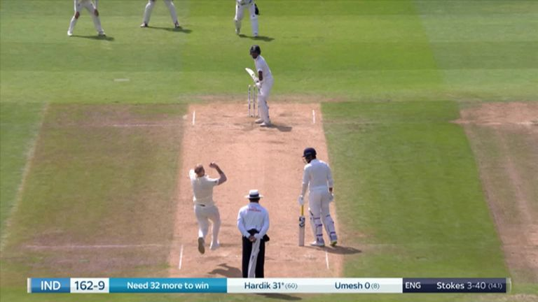 Stokes took the final wicket of Hardik Pandya to seal the win