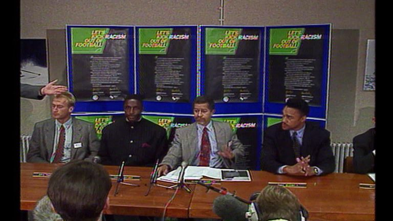 Take a look at the Sky News report from the 1993 launch of Kick It Out