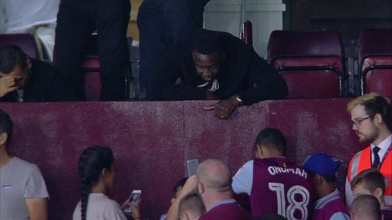 Bolasie was in the stands at Villa Park