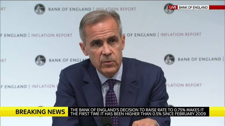 Mark Carney, Governor Of The Bank Of England