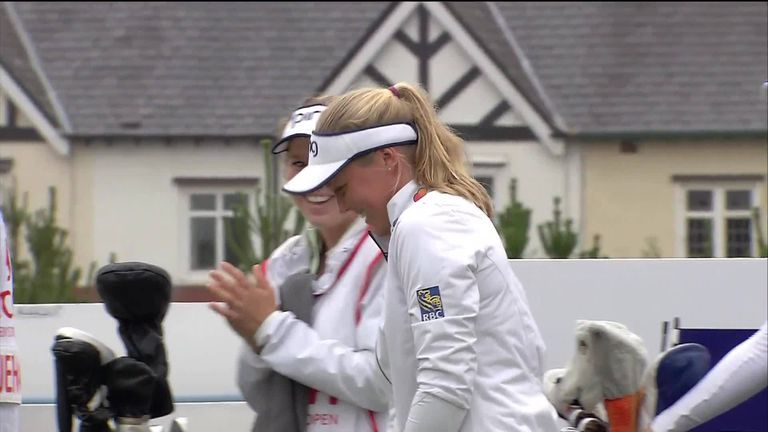 Canadian golfer Brooke Henderson drains hole-in-one at British Open