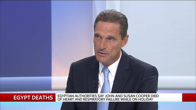 Thomas Cook chief speaks to Sky News about the death of tourists in Egypyt