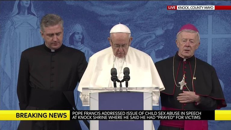 Pope Francis gives speech in Knock