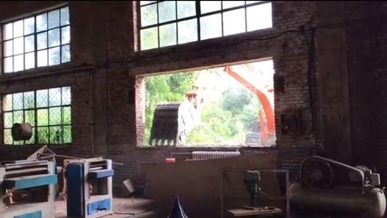 Diggers were pictured destroying Ai Weiwei's main studio in Beijing. Pic: Instagram/Ai Weiwei