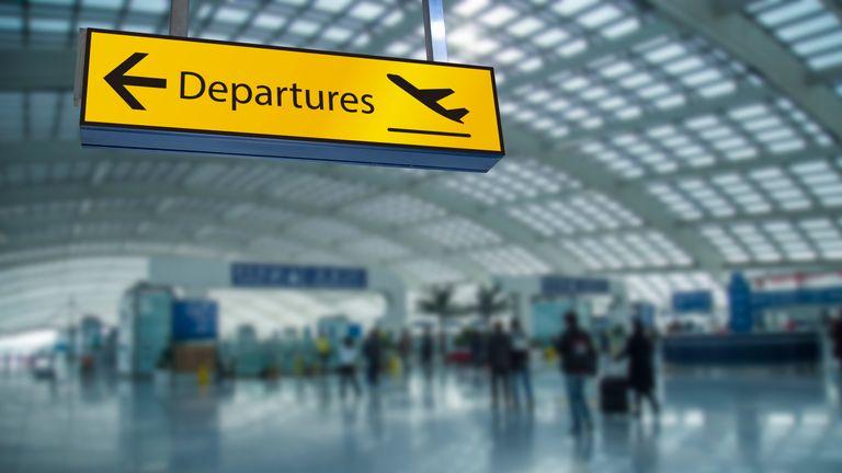 Departures - Stock image
