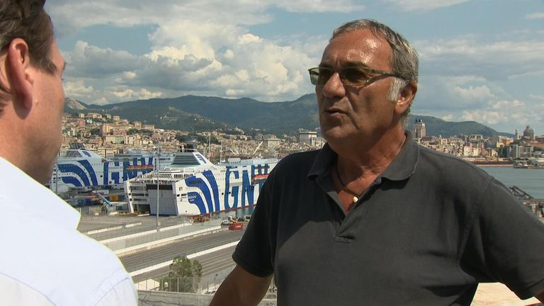 Antonio Benvenuti says port workers will set up a fund for the family of their dead friend