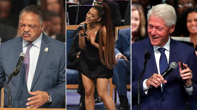 Jesse Jackson, Ariana Grande and Bill Clinton led tributes