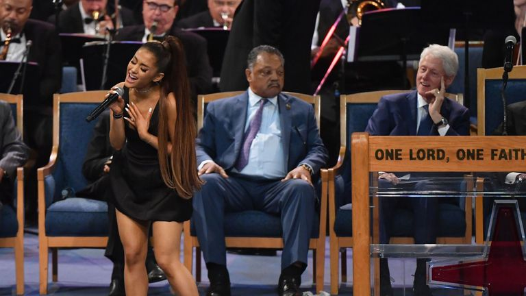 Ariana Grande sang Natural Woman as a musical tribute to Aretha Franklin