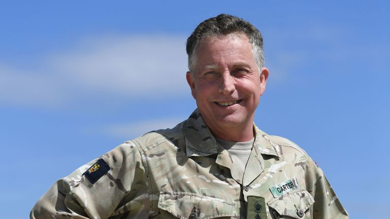 Chief of the Defence Staff General Sir Nick Carter praised the army