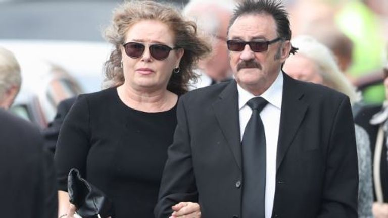 Paul Elliott arrives at the New York Stadium, Rotherham, for the funeral of his brother Barry