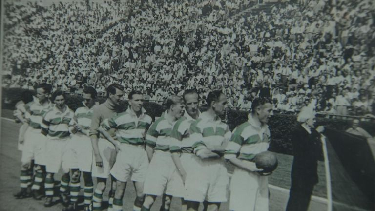 Belfast Celtic withdrew from the Irish league in 1949
