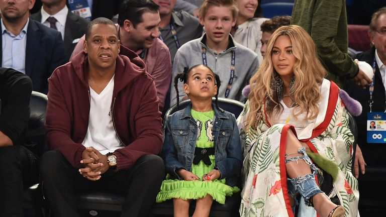 Beyonce and husband Jay Z were already parents to Blue Ivy