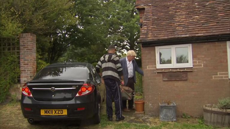 Boris Johnson returned home after making the comment