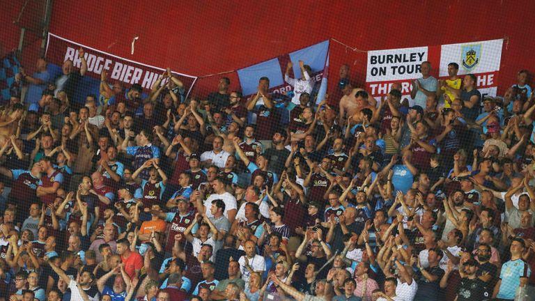 Burnley fans inside the stadium