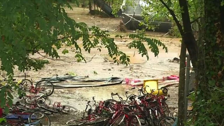 Saint-Julien-de-Peyrolas campsite is ravaged by flash floods