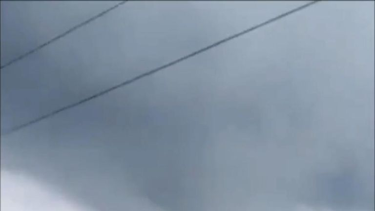 A possible tornado is caught forming in Ontario