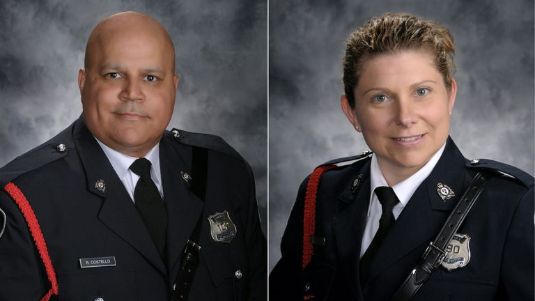 Const. Robb Costello and Const. Sara Burns were shot alongside two civilians
