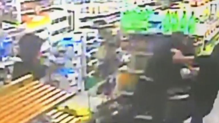 Shopkeeper ignores official advice about tackling armed suspects and successfully fights them off
