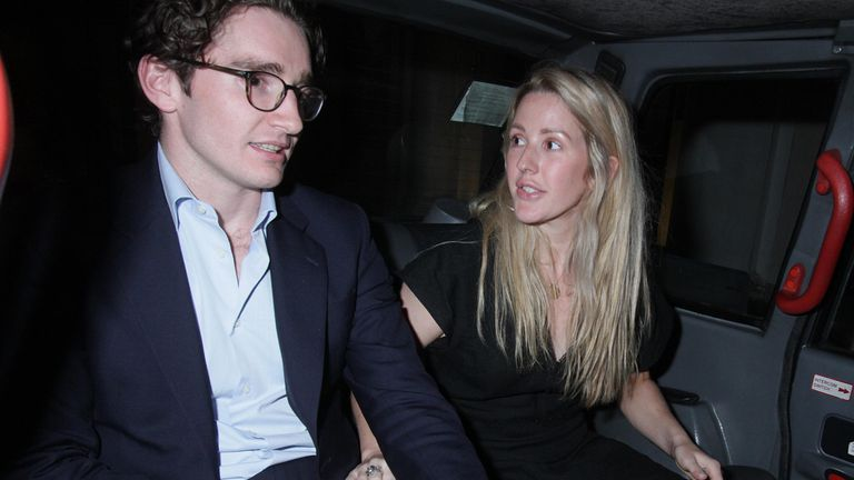 Caspar Jopling and Ellie Goulding