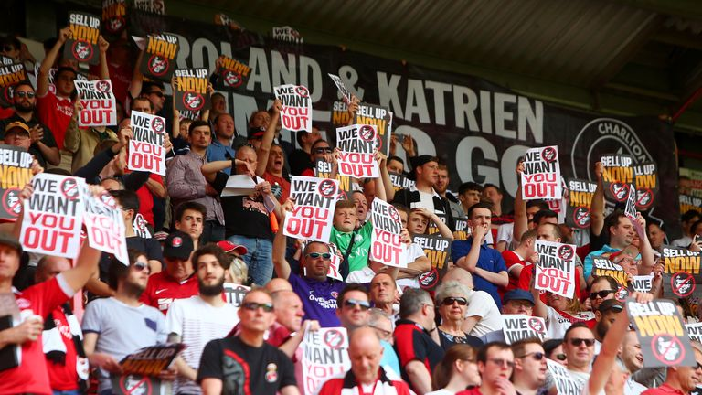 Protests have regularly taken place at The Valley in recent years