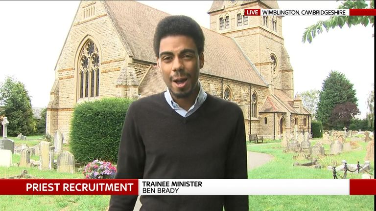 The 21-year-old said he wanted to help to preserve the church in a new way for the next 50 years
