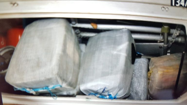 Authorities have seized a 'significant' amount of cocaine. Pic: National Crime Agency