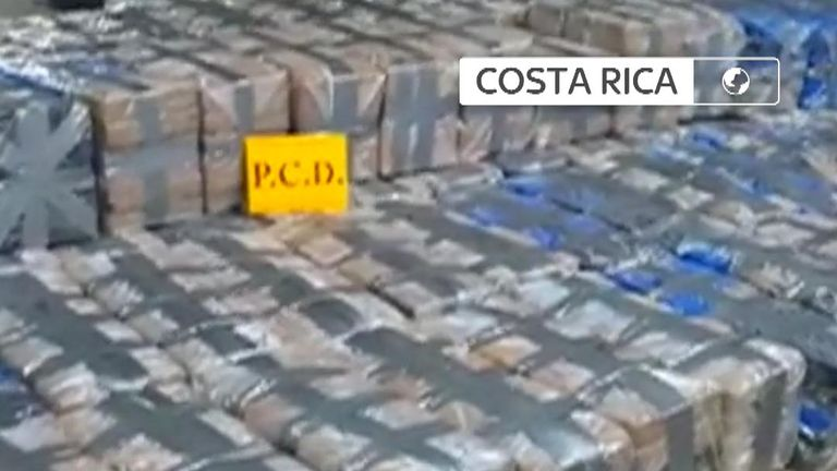 Authorities seize a vast quantity of drugs from a 'narco-submarine' off Costa Rica
