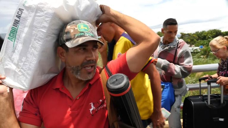 Some Venezuelans cross into Colombia to buy supplies