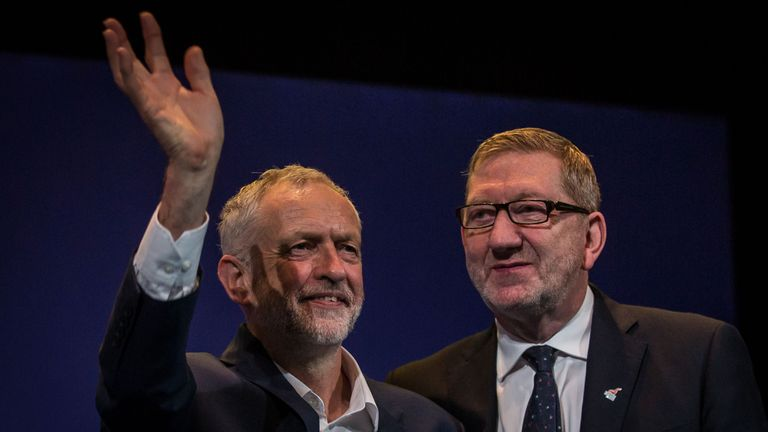 Len McClusky (r) asserts Labour 'is not an institutionally racist party'