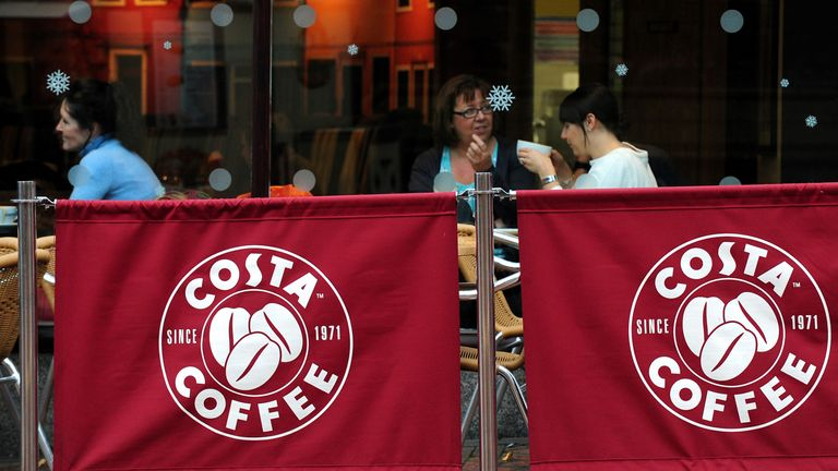 Costa is a popular sight on the UK high street