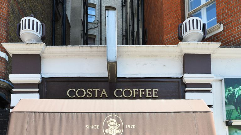 The first Costa is till open on Vauxhall Bridge Road in London