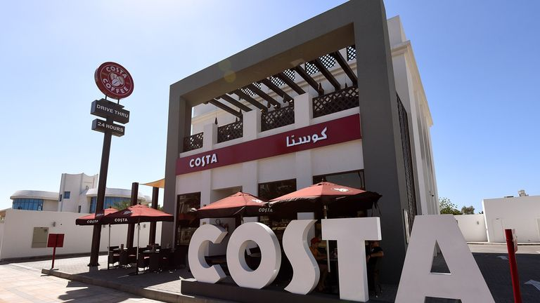 Costa opened its first international branch in Dubai