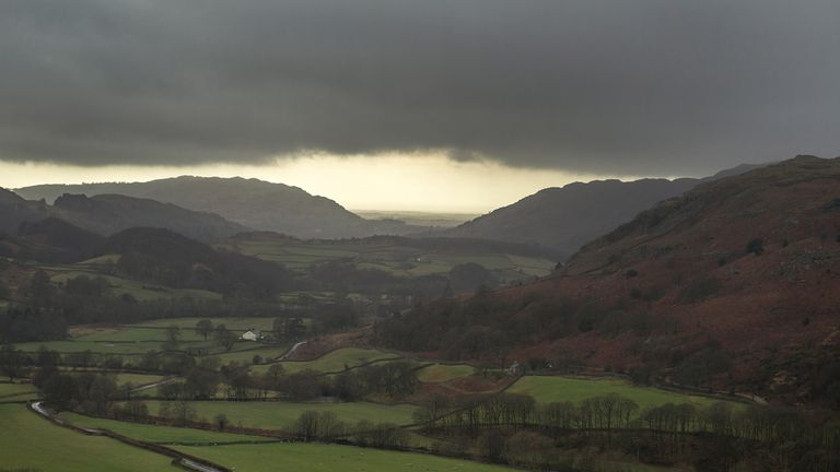 BROUGHTON-IN-FURNESS, ENGLAND - FEBRUARY 16:  A view across Eskdale and the rural Western Lake Distric from the Hardknott Pass ahead of the Copeland by-election on February 16, 2017 in Broughton-in-Furness, England. The Copeland by-election was triggered by the resignation of Labour MP Jamie Reed last December to take a post at the nearby Sellafield nuclear power plant. The seat has been a Labour stronghold for decades but will see fierce competition from the conservaties and UKIP.  (Photo by Christopher Furlong/Getty Images)