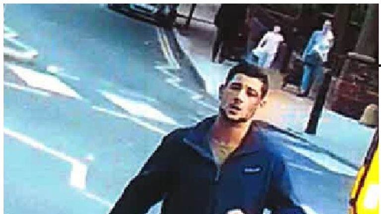 Police have released CCTV footage of the cyclist they are looking for. Pic: Met Police